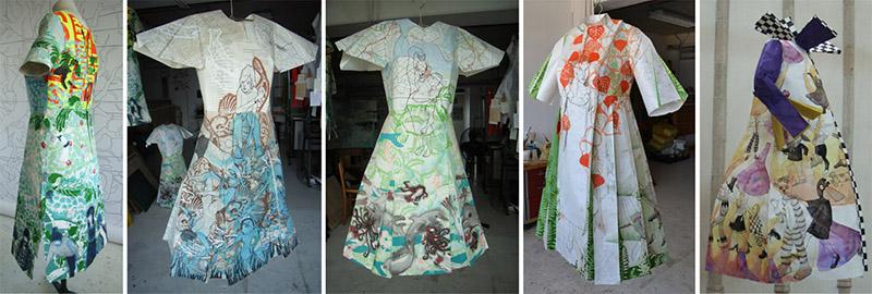 Liesbeth Verhoeven - papieren jurken