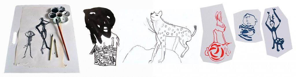 tekenen met lef door experiment en spel, Liesbeth Verhoeven