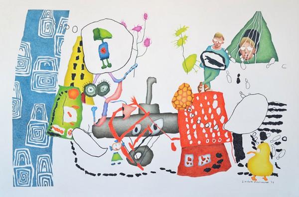 Tekening Liesbeth Verhoeven - Mees' fabriek